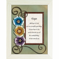 Hope - Framed Christian Tabletop Home Decor