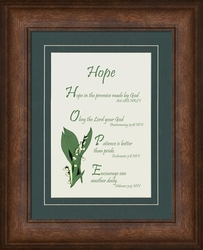 Hope Framed Christian Wall Decor - 4 Frames Available