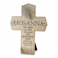 Hosanna, Our God Saves Cast Stone Wall Cross