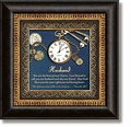 Husband Proverbs 20:7 Framed Table Clock by Heartfelt