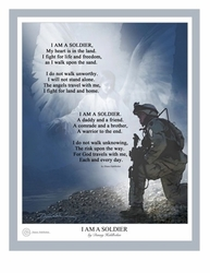 I Am A Soldier by Danny Hahlbohm - 4 Unframed Options