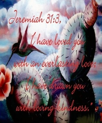 I Have Loved You Jeremiah 31:1 by Michelle Gorski - Unframed Christian Art