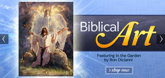 biblical art featuring in the garden by ron dicianni