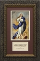 Immaculate Conception with Prayer - Framed Christian Art