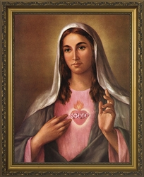 Immaculate Heart II Framed Image - Framed Christian Art