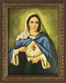 Immaculate Heart (Gold Frame) - Framed Christian Art