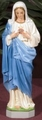 Immaculate Heart of Mary Painted Outdoor Statue