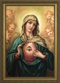 Immaculate Heart (Surrounded by Angels) - 3 Framed Options