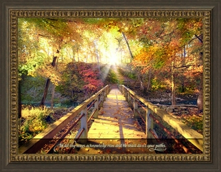 "In All Thy Ways - ""The Crossing"" Christian Wall Decor"