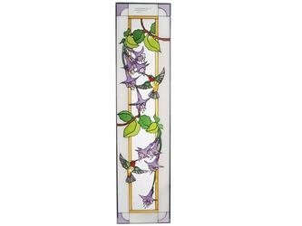 Inspirational Hummingbirds Stained Glass Art Panel