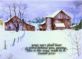 Isaiah 31:21 - Inspirational Images by Ruth Bush
