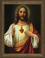 Italian Sacred Heart by Heiliges Abendmahl Zabateri - 4 Framed Options