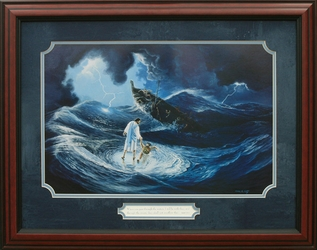 Jesus Walking on the Water - Framed Christian Art