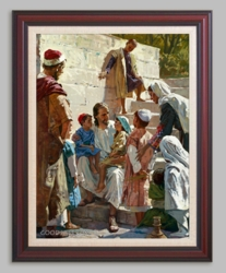 Jesus with Children - Christian Art - 6 Options Available