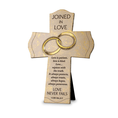 Joined In Love Cross Christian Home Decor