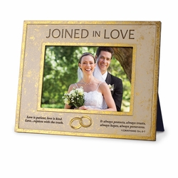 Joined In Love Rectangular Photo Frame - Christian Home Decor