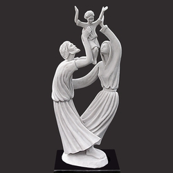 Joy Of The Family Christian Art Sculpture by Timothy P. Schmalz