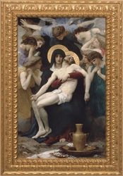 La Pieta (Ornate Gold Frame) by William Adolphe Bouguereau - 3 Framed Options