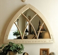 Large Carved Gothic Mirror Wall Decor