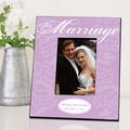Lavender with White Marriage Picture Frame