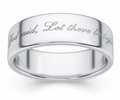 Let There Be Light Genesis 1:3 Bible Verse Wedding Band Ring in White Gold