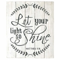 Let Your Light Shine Wood Pallet Sign - Christian Home & Wall Decor