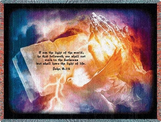 Light of the World Religious Tapestry Throw