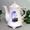 Lighthouse 2 Cup Tall Scripture Teapot