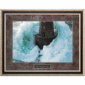 Lighthouse - The Lord is my Rock by Jean Guichard - Framed Christian Art