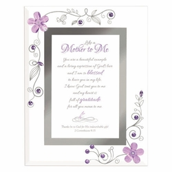 Like a Mother- Purple Framed Christian Tabletop Home Decor