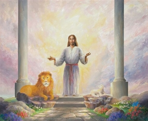 Lion and the Lamb by Bryan Lynch - 3 Unframed Options