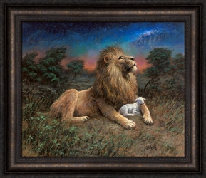 Lion And The Lamb - Song of Yahweh by Jon McNaughton - 6 Options Available