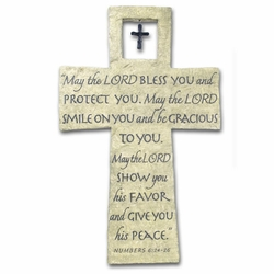 Lord Bless You Resin Wall Cross