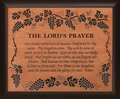 Lord's Prayer Cherry Wood Framed Carving