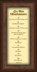Los Diez Mandamientos Framed Spanish Religious Gift - 6 Frames Available