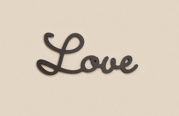 Love Carved Word Script Home Decor
