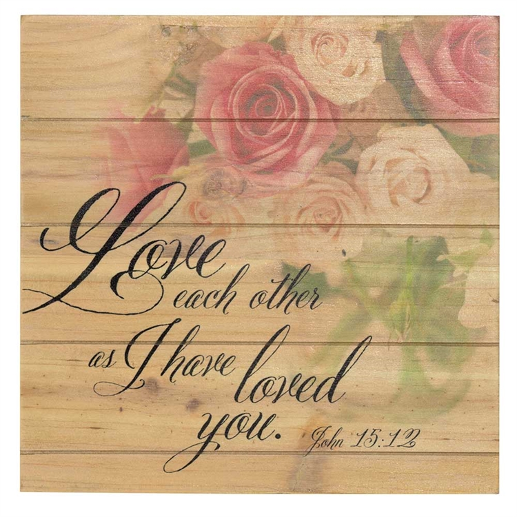 Love Each Other Wood Pallet Sign - Christian Home & Wall Decor ...
