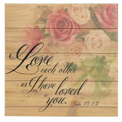 Love Each Other Wood Pallet Sign - Christian Home & Wall Decor