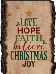 Love Hope Faith Christmas Barky Sign