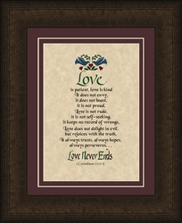 Love is Patient, Love is Kind Framed Christian Art