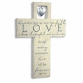 Love Is Resin Wall Cross - Christian Wall Decor