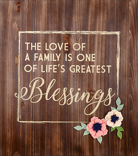Love Of A Family Wood Pallet Sign - Christian Wall Decor | LordsArt