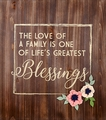 Love Of A Family Wood Pallet Sign - Christian Wall Decor