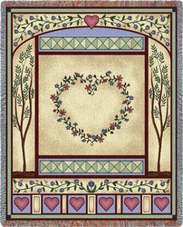 Love Quilt II Tapestry Throw
