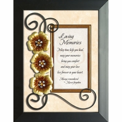 Loving Memories - Framed Christian Tabletop Home Decor
