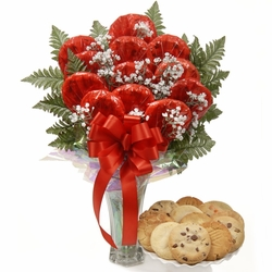 Luscious Longstems in a Vase Cookie Bouquet
