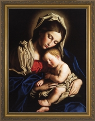 Madonna and Child by Giovanni Battista Salvi da Sassoferrato - 4 Framed Options
