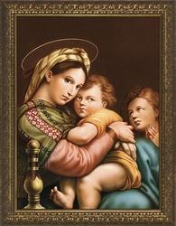 Madonna della Seggiola (of the Chair) by Raphael - 4 Framed Options