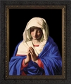 Madonna in Prayer by Giovanni Battista - 4 Ornate Dark Framed Options