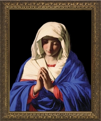 Madonna in Prayer by Giovanni Battista - 4 Standard Gold Framed Options